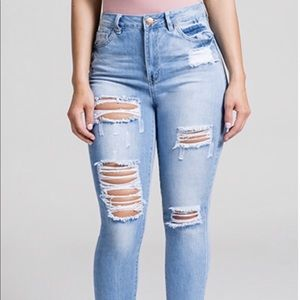 YMI distressed jeans. Very stretchy